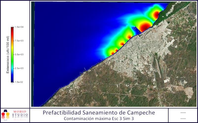 MODELO MATEMÁTICO PARA ESTUDIO PREFACTIBILIDAD SANEAMIENTO DE BAHÍA DE CAMPECHE (MÉXICO)