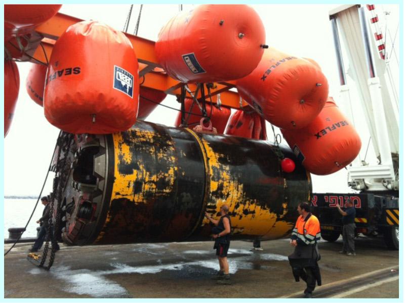 Estudio del proceso de rescate de dos tuneladoras diferentes de los tramos de hinca de las conducciones submarinas de la Desaladora Sorek (Israel)