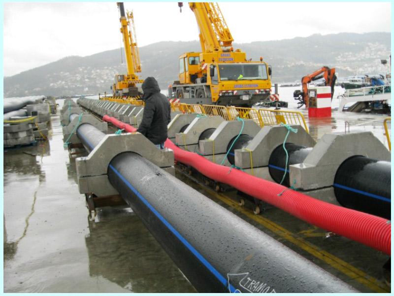 Estudio de fondeo y elementos auxiliares para conducción submarina de abastecimiento a Morrazo, Vigo, (España)
