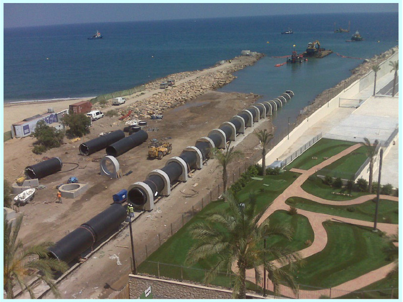 DETAILED ENGINEERING OF THE  DISCHARGE PIPELINE FOR THE AGUILAS DESALINATION PLANT (MURCIA, SPAIN)