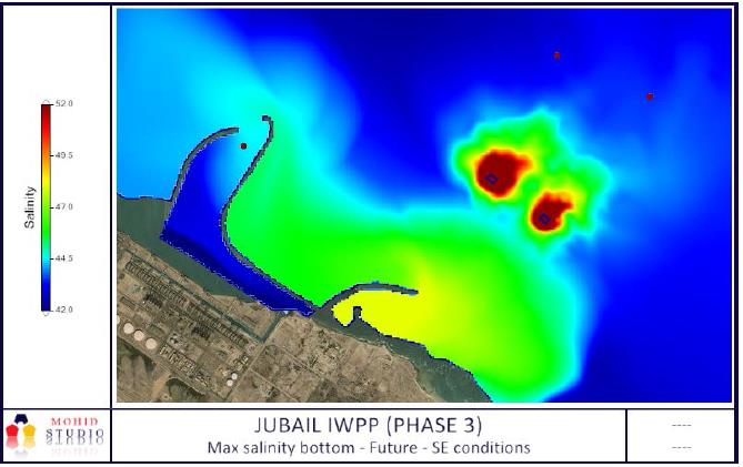 MARINE CLIMATE AND RECIRCULATION STUDY USING A DIGITAL MODEL FOR THE JUBAIL DESALINATION PLANT (PHASE 3A & 3B for 600,000 m3/d)