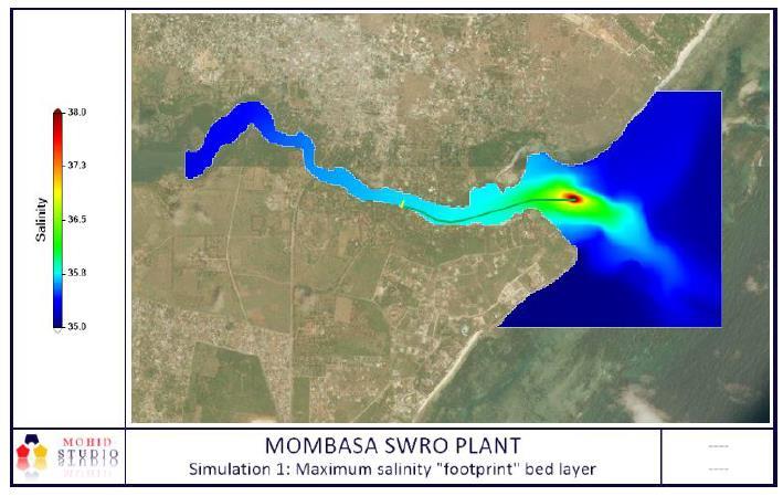 RECIRCULATION STUDY USING A DIGITAL MODEL FOR THE MOMBASA DESALINATION PLANT (100,000 m3/d)