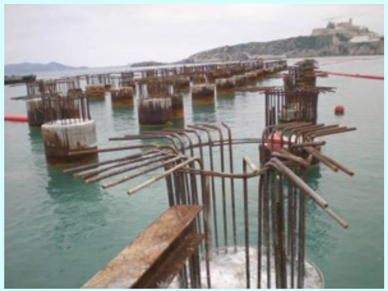 CONSTRUCTION PROJECT FOR WHARFS AND FLAT COMMERCIAL AREAS AT THE BOTAFOC BREAKWATER AT THE PORT OF IBIZA, SPAIN