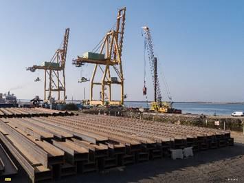 muelle  estacas  proyecto constructivo   portuario de Huelva