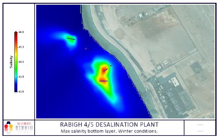 MARINE CLIMATE AND RECIRCULATION STUDY USING A DIGITAL MODEL FOR THE RABIGH DESALINATION PLANT (PHASE 4/5 for 600,000 m3/d)