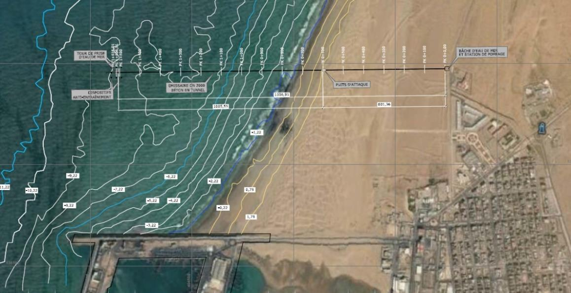 TENDER PROJECT FOR THE CIVIL ENGINEERING FOR THE MARINE WORKS RELATED TO THE DESALINATION PLANT IN LAAYOUNE (SAHARA)
