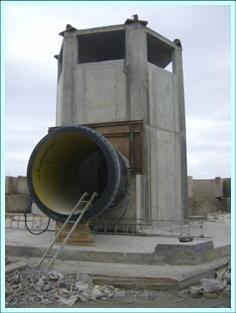 Estructura de captación de agua de mar. Torre de Toma