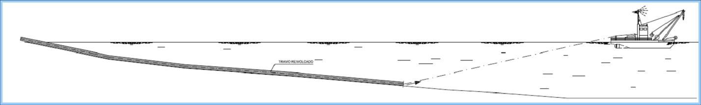 Plano de terminal de hidrocarburos de arrastre por fondo